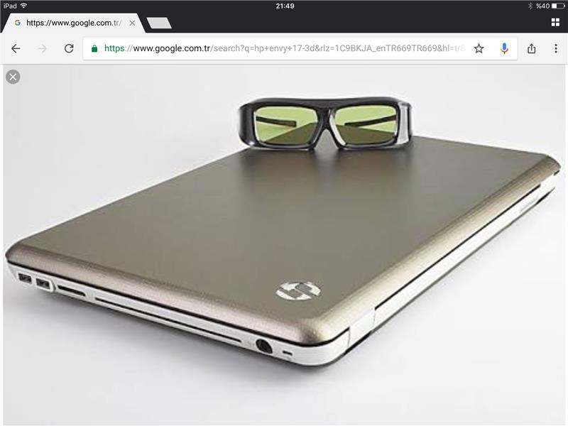 hp envy 17 3D laptop