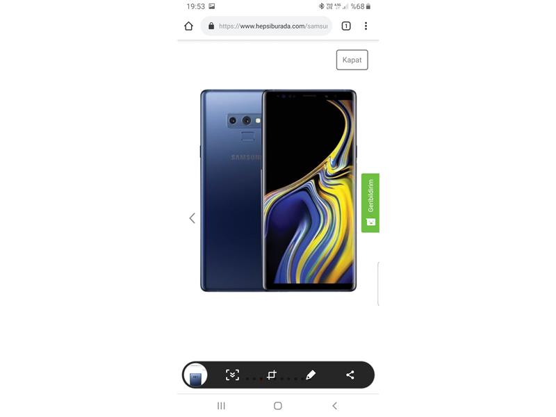 Samsung Galaxy note 9 512 gb sıfır